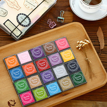 20Pcs Candy Color Small Ink Pad Set for Diary Scrapbook Notebook Greeting Card DIY Decoration
