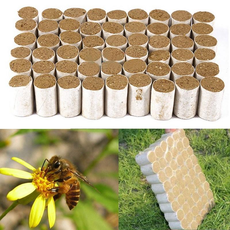 54pcs Beekeeper Tools Dedicated Herbal Fumigating Smoker Bomb Bee Tools Box Disinfect Beekeeping Equipment Tool
