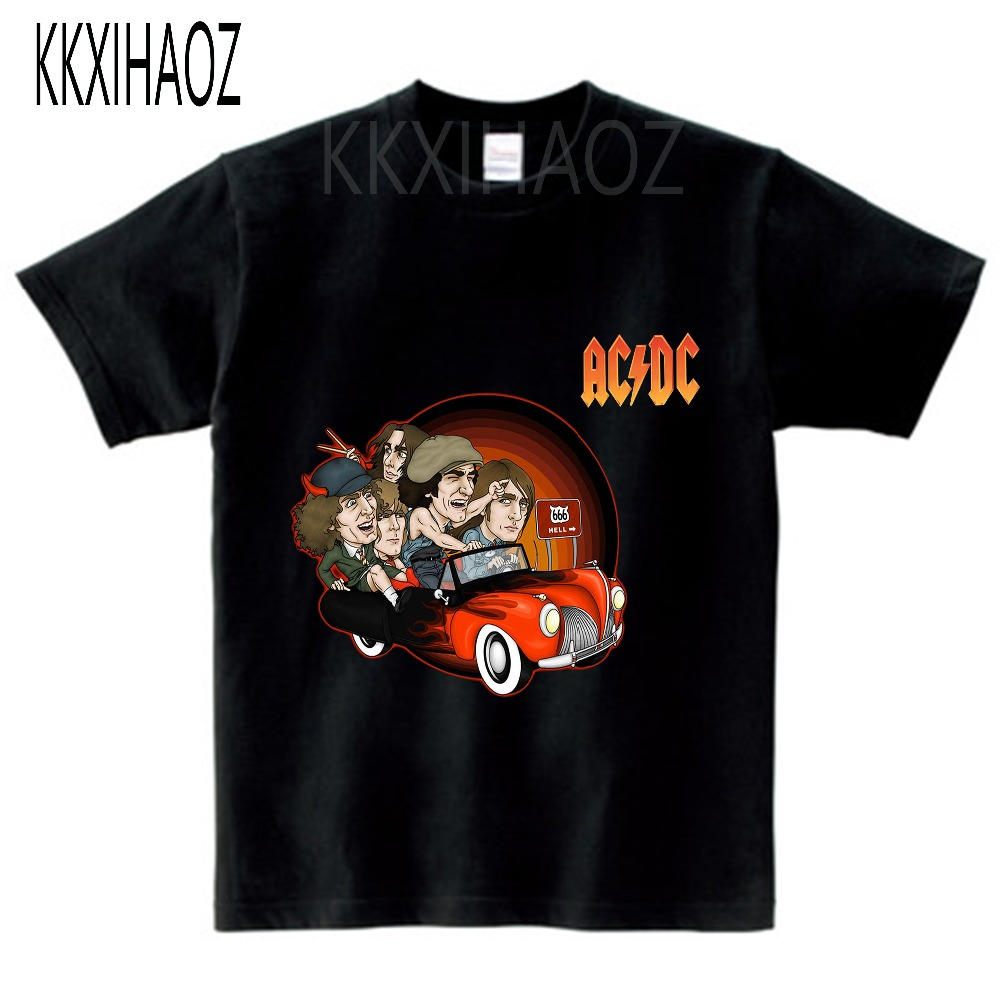 T-Shirts Camisetas Graphic Rock Acdc Short-Sleeve Cotton New Casual Top-N Hip-Hop Ac/dc-Band