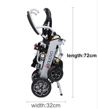 Free shipping 2019 High quality lightweight portable electric wheelchair for disabled people with 24V 6AH BATTERY