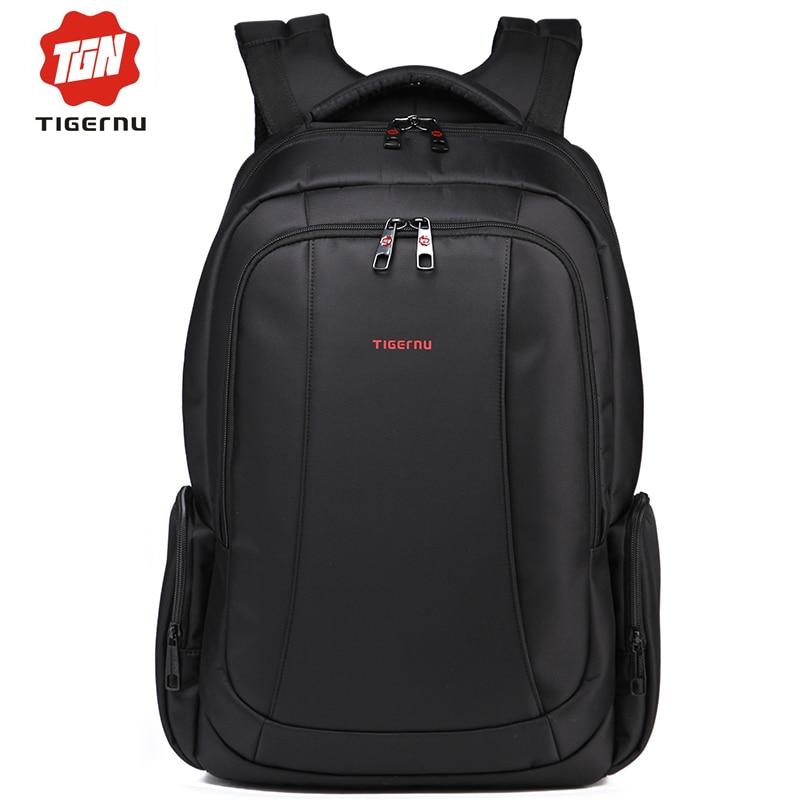 ФОТО 2017 Tigernu Women Backpacks Mochilas Male Back Pack Black Waterproof Daily 15.6 Inch Laptop Backpack for Computer Notebook bag