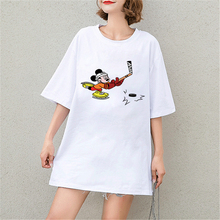 New Tshirt Cute Mickey Mouse Cartoon Print Short Sleeve Harajuku Tops & Tees Fashion Casual Sexy Cotton Plus Size T Shirts Women