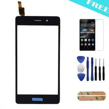 For Huawei P8 lite Black Original Touch Screen Front Panel Outer Glass Digitizer Replacement Tools+Protactive Film + Adhesive