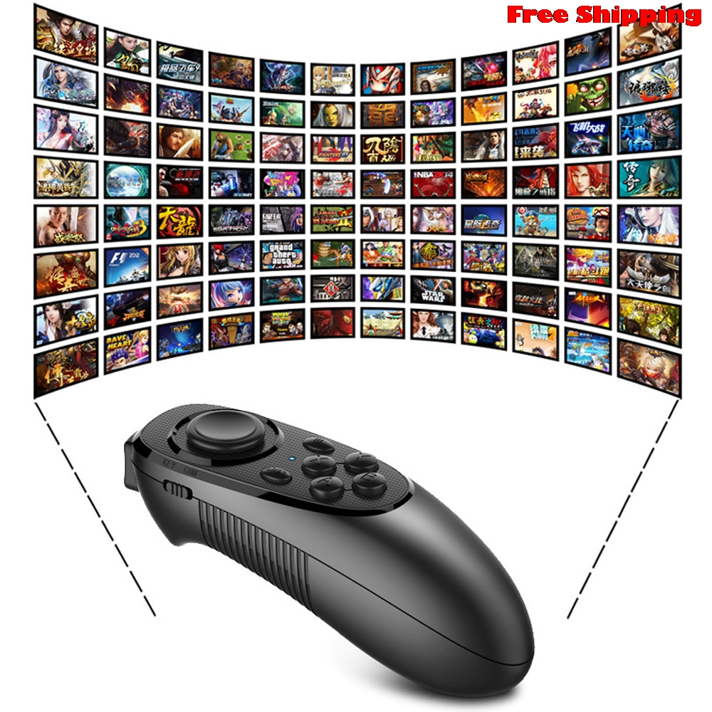 VR BOX Virtual Reality 3D Glasses Bluetooth Remote Control For Mobile Phone VR TV box PC Gamepad Wireless Mouse Free Shipping
