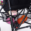 1 Unid Cochecito Multifuncional de Almacenamiento de Grandes Bolsas De Malla Neto Negro Cesta Colgante Bebé Seguro Infantil Trolley Basket Nets Accesorios