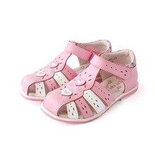 Супер качество, 1 пара, сандалии из натуральной кожи для девочек, ортопедические, для поддержки свода стопы, детская обувь, сандалии для девочек, детская обувь