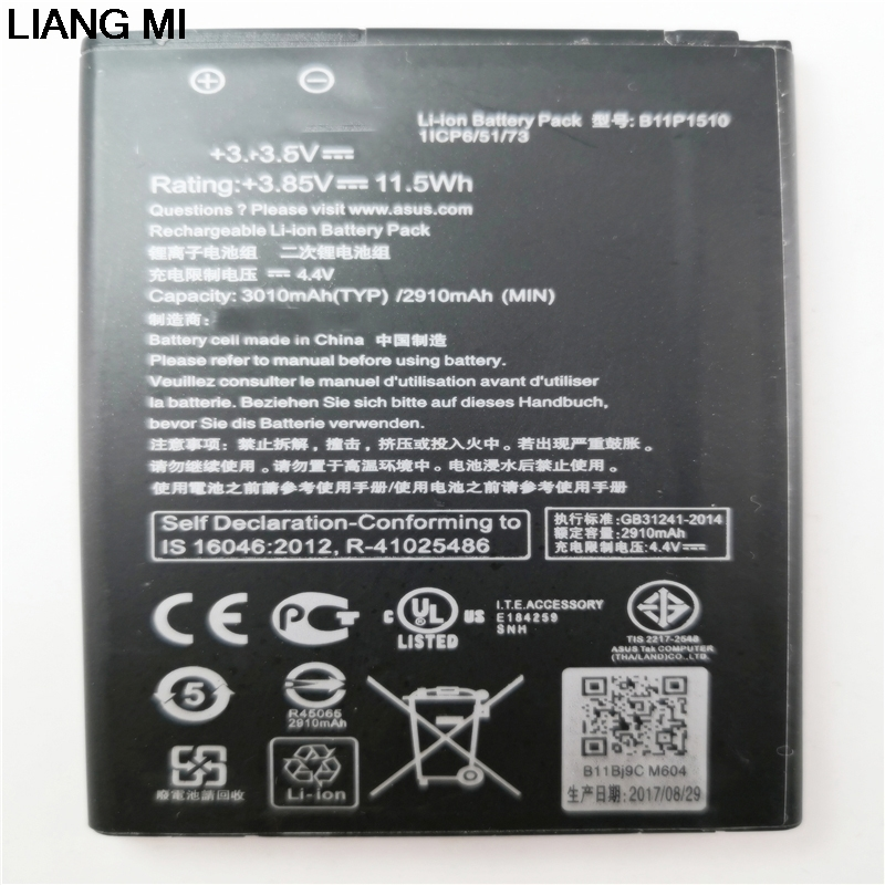 3010mAh B11P1510 / C11P1510 Replacement Li-ion <font><b>Battery</b></font> For <font><b>ASUS</b></font> ZenFone Go TV <font><b>ZB551KL</b></font> X013DB with phone holder for gift image