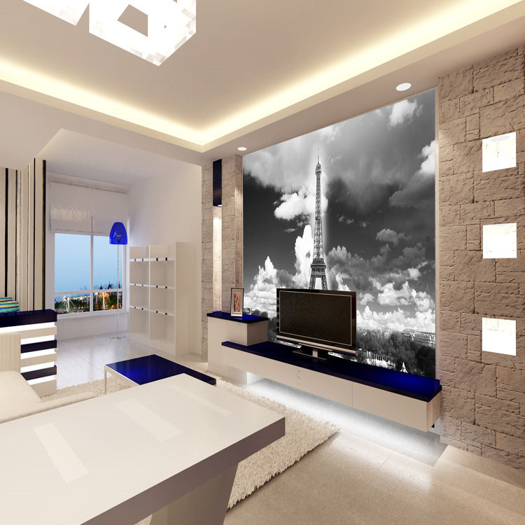 Vintage Wall Mural Wallpaper Eiffel Tower Photo wallpaper Poster ...
