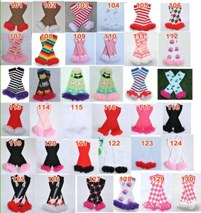 Image 4 - 200styles Baby Ruffled Leg Warmers Infant Xmas Halloween Holiday chiffon ruffle Leggings warm knee pads