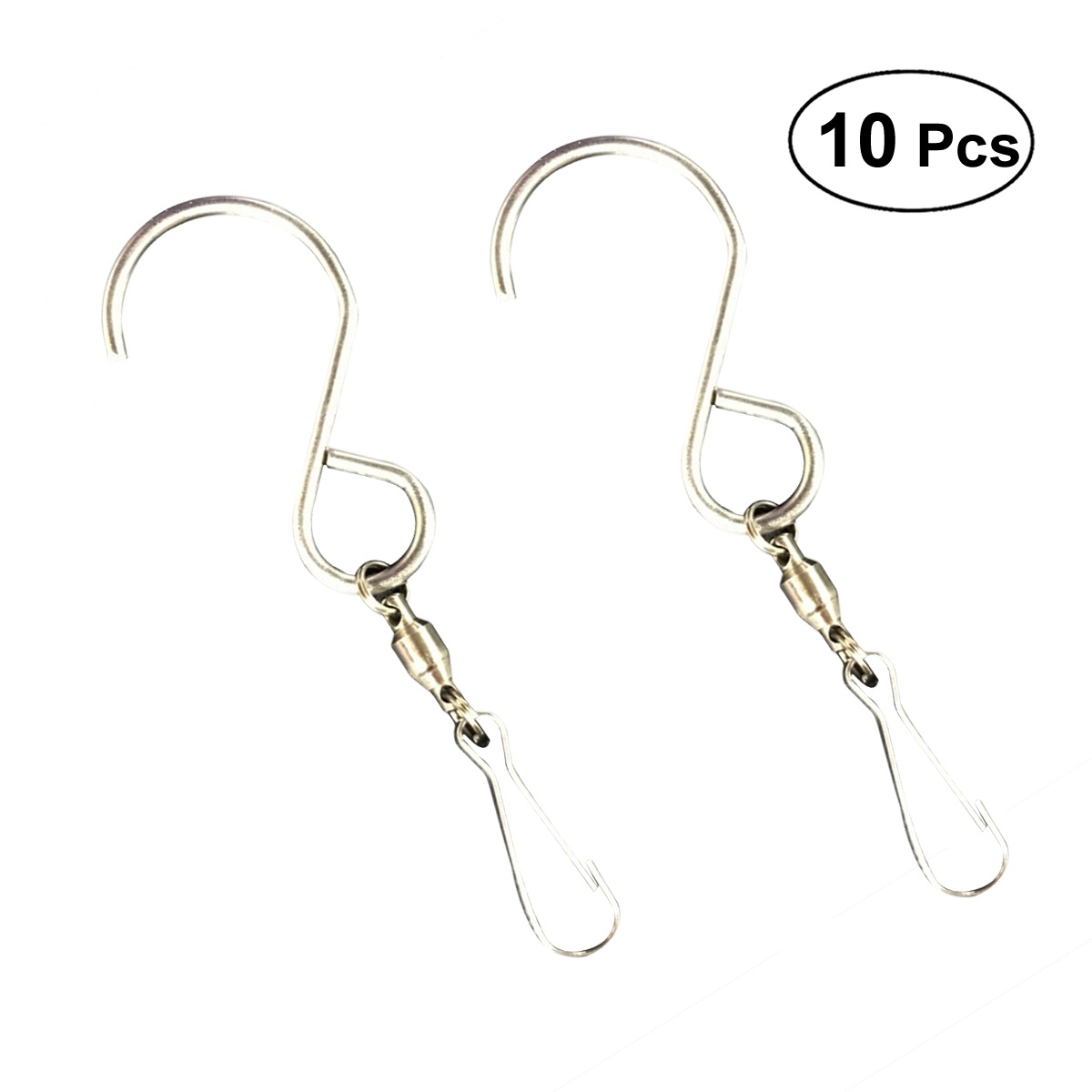 Stainless Steel S-Shape Swivel Hooks Wall Hanging Wind Chimes Rotate Rack Holder
