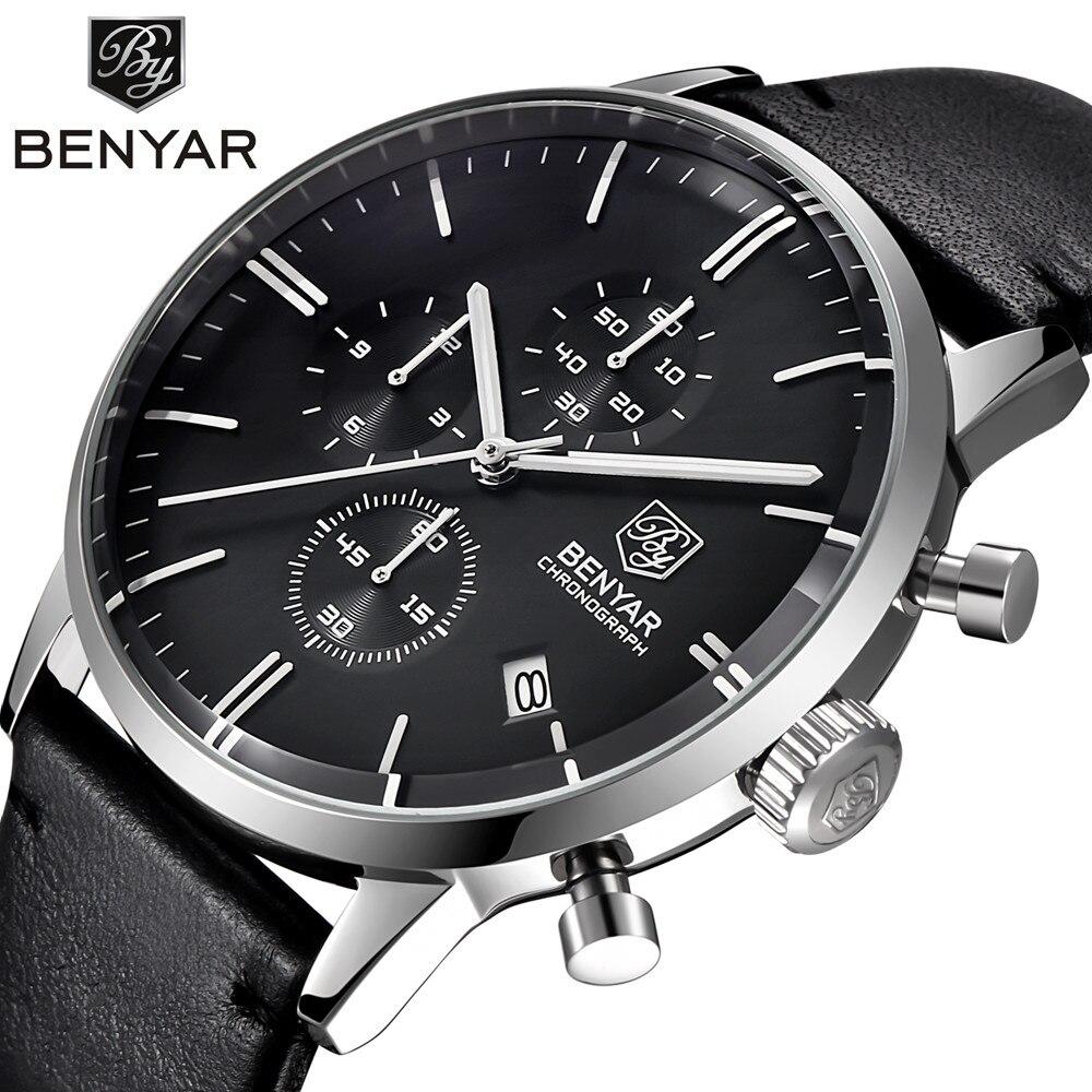 Men Quartz Watches Men s Top Brand Luxury Leather Business Watch Male Sport Chronograph Watches Men