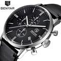 Men Quartz Watches Men's Top Brand Luxury Leather Business Watch Male Sport Chronograph Watches Men Calendar Clock montre homme