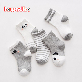 Lawadka 5Pairs/lot Cotton Striped Baby Socks Newborn Baby Boys Girls Sock Cute Toddler Kid Socks Size XSandS