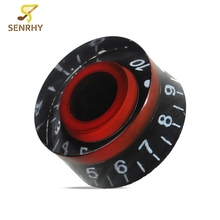 4pcs/lot Black Red Guitar Useful Replacement Speed Control Guitar Knobs For LP Electric Guitar Bass Guitarra Accessories