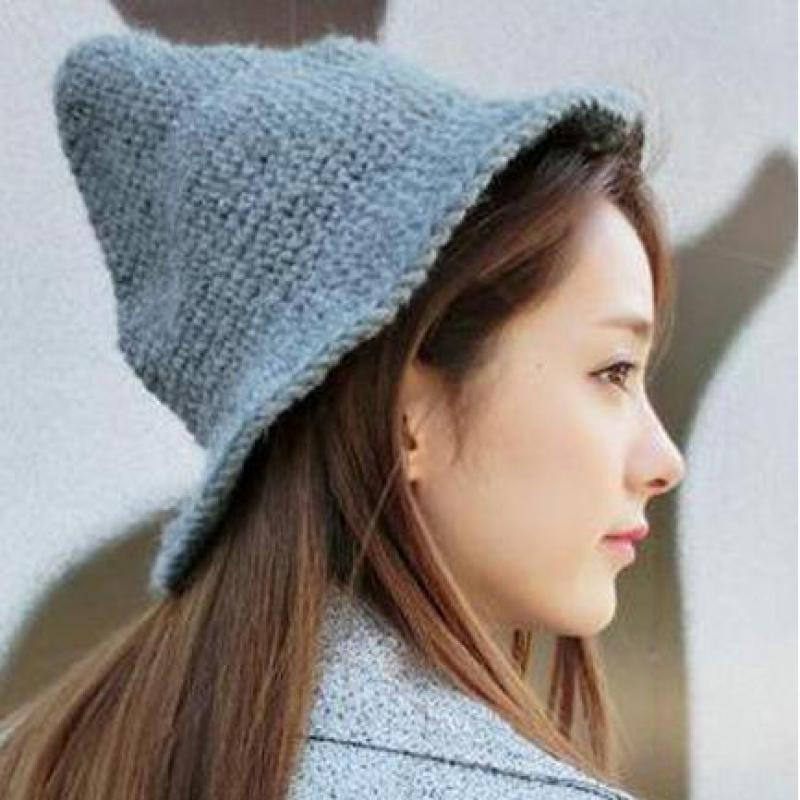 YOCCAS Hand Knitted Hat Hats New Winter Fashion Wholesale Pointy Nipple  Lovers Girls Hat 8483d631127