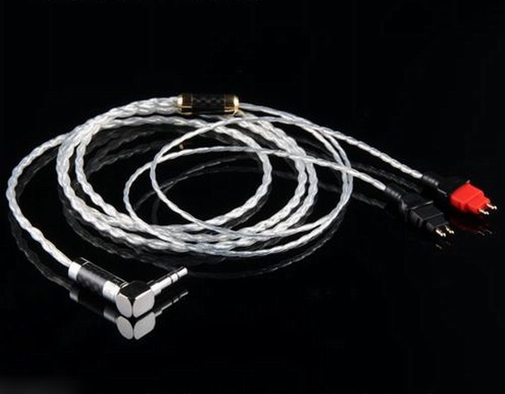 Silver Plated HD650 HD600 HD580 HD25 Silver headphone audio cable 1.2 m 1 5m hd580 hd600 hd650 headphone cable 3 5mm plug