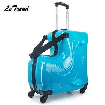 9f5a59dddfc26 Yeni Çocuk Haddeleme Bagaj Spinner 20 inç jantlar Bavul Çocuk Kabin Arabası  Öğrenci Seyahat Çantası Sevimli Bebek Taşıma Gövde Üzerinde