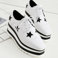 Dropshipping Oxfords Shoes For Women Platform Star Creepers Women S Oxfords Shoes Lace Up Casual Ladies
