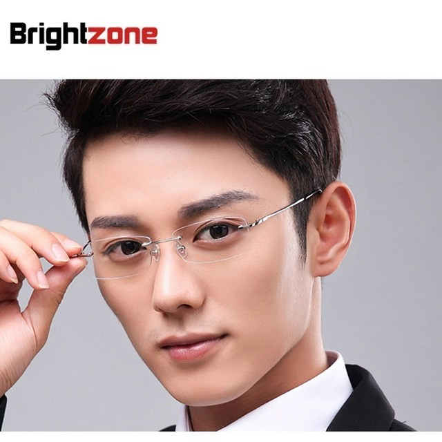 47e2457383 NEW ARRIVING + Fashion + Free Shipping Memory Titanium 8189 Rimless Glasses  Eyeglasses Spectacle Frame Oculos