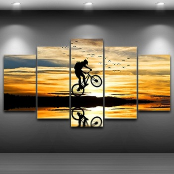 Artistic Canvas Print Painting HD Printed Home Decor Poster wall art pictures Sportman Framed Spray Painting Decoration AE0061 image