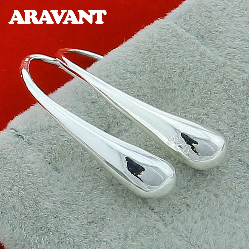 925 Silver Jewelry Fashion Water Drop Earrings For Women Wedding Party Jewelry