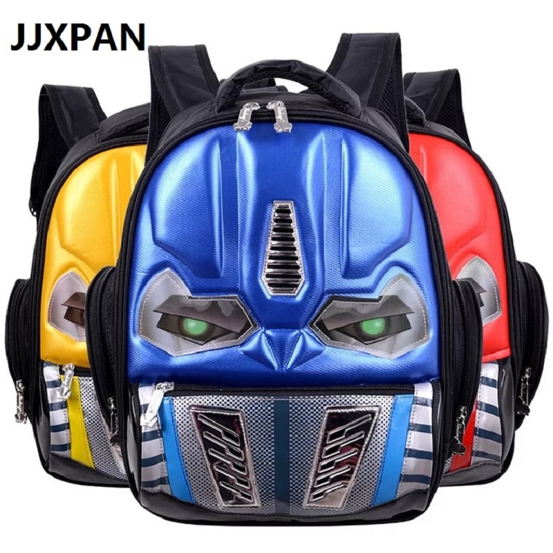 Transformers School Bag Children 4-8years Kids Backpack Mochila Bag Waterproof Cartoon Boys Book Bag