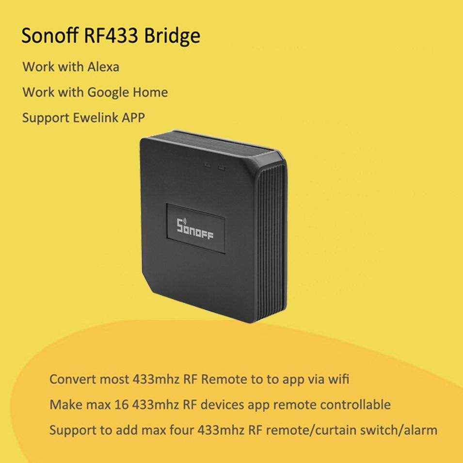 Sonoff RF Pont WiFi 433 MHz Remplacement Domotique Module Commutateur Universel Intelligente Domotica Wi-Fi À Distance RF Contrôleur