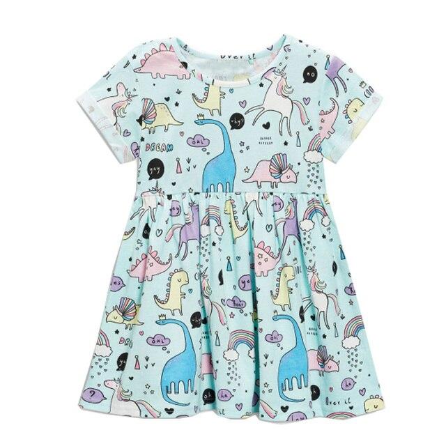 מוצר Baby Girls Dress Summer Unicorn Costume for Kids