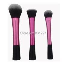 High Quality 3 pieces pink face makeup brush set powder blush contour foundation brush for face color cosmetics