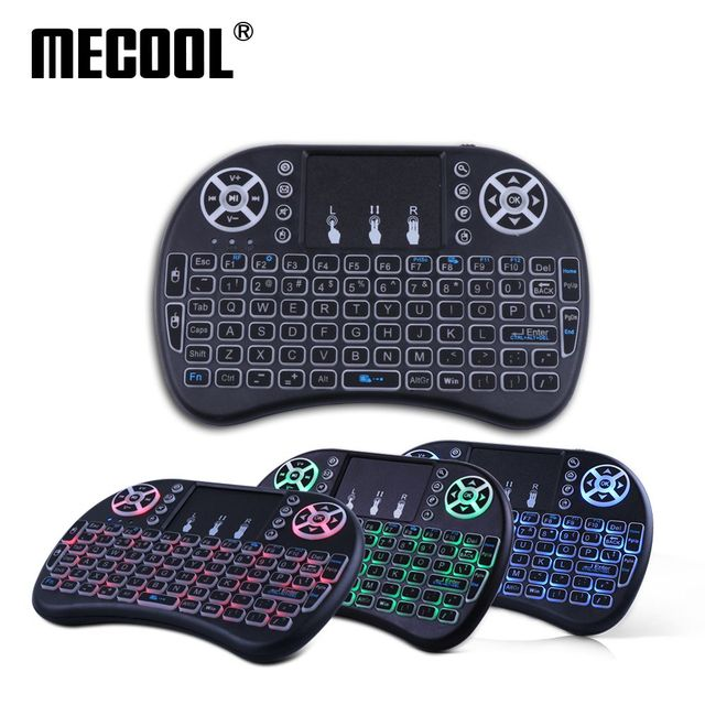 Flash Promo Air Mouse Russian English Spanish Backlit i8 Backlight Wireless Mini Keyboard As Remote Control for Android Smart TV Box