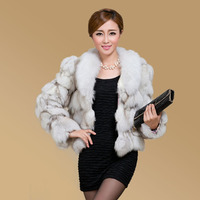 New Fashion Women fox fur vest women's short fox fur coat fur jacket Fox Fur Collar Free shiping