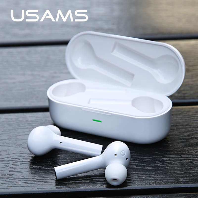 $38.99 USAMS Wireless Bluetooth Earphone 5.0 Stereo Earbud Headset With Charging Box Mic For Iphone Samsung All Smart Phone air pods