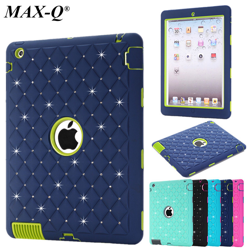NEW Case for Apple ipad 2 3 4 Luxury Silicone 3 Layer Heavy Duty Shockproof Cover Kids Protective Back Shell skin Funda