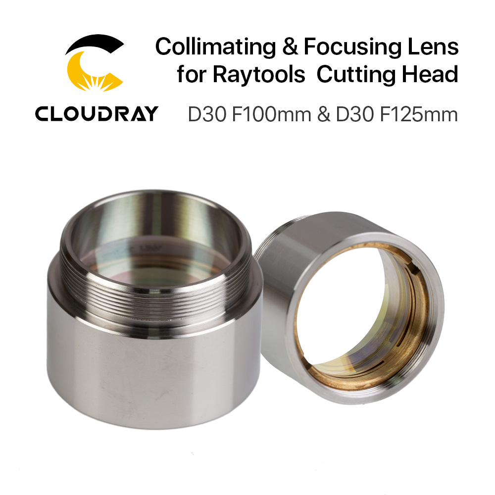 Cloudray Fiber Laser Focus Lens D30 F100 F125mm with Lens Holder for Raytools Laser Cutting Head