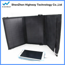 PowerGreen Solar Power Bag 7W 10.5W 14W Foding Solar Panel Charger External Battery Backup Charger for Mobile Phone