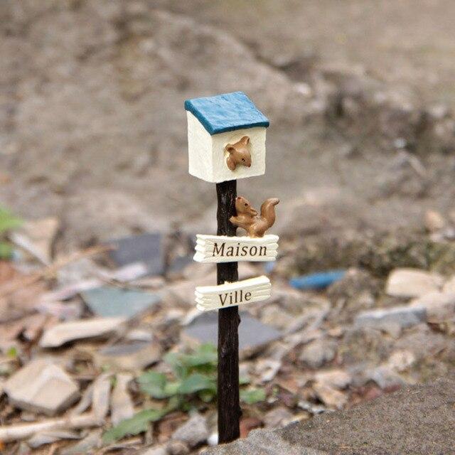 Wegweiser Eichhornchen Wegweiser Miniatur Fee Garten Hauser