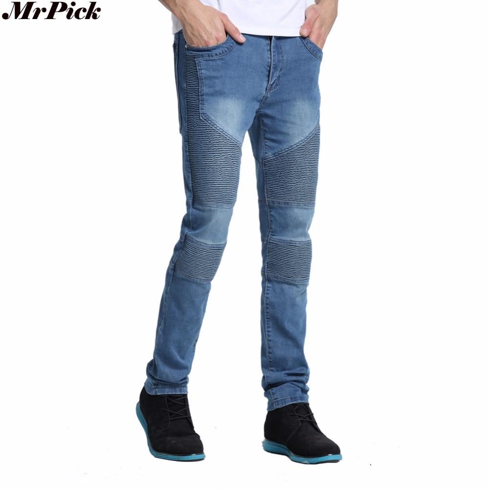 2017 Men Jeans Men Skinny Strech Biker Jeans Hiphop Jeans For Men Y2038 2016 men skinny jeans men runway slim racer biker jeans strech hiphop jeans for men y2036