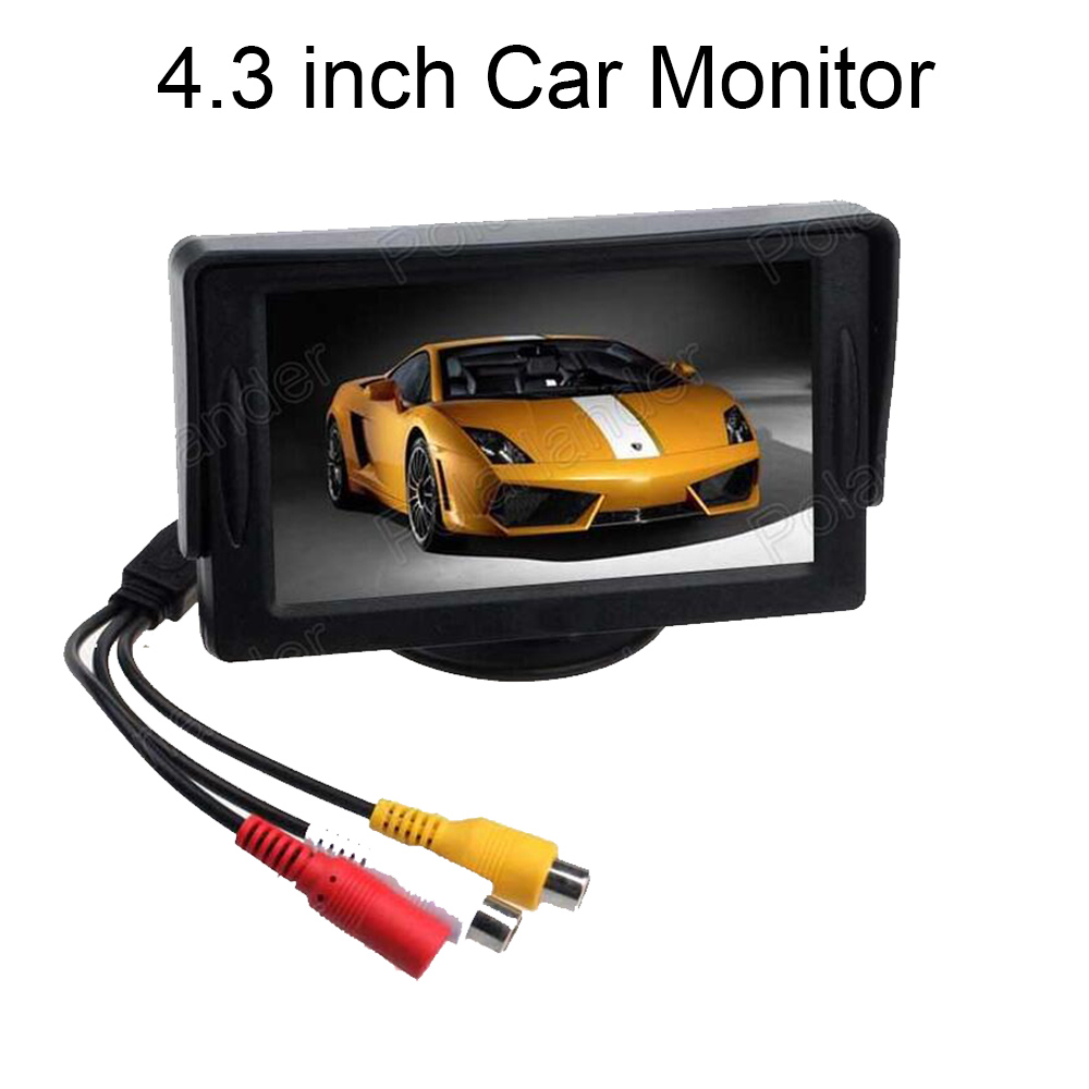 supports two ways of video input reverse priority Most useful 4.3 inch color TFT LCD Car Monitor Rearview for Camera DVD