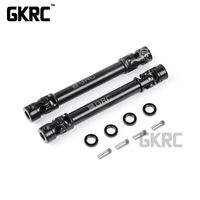 2PC Metal Upgrade Transmission Shaft Small Dia More Simulated Drive Axle GAX0131G f RC JIMNY MST CFX Car 242/252/267mm Wheelbase