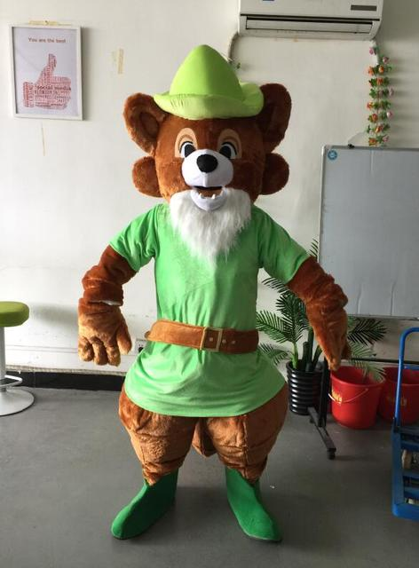oisk robin hood mascot costume halloween christmas birthday celebration carnival dress full body props outfit