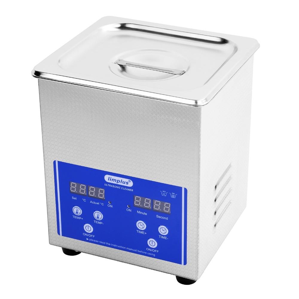 Limplus 2L  Digital Ultrasonic Bath Heating Power 100W  Cleaning Jewellery Lenses Fountain Pens Ultrasound Water Bath