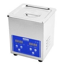 Limplus 2L Digital Ultrasonic Teeth Cleaner Heated Power 100W Cleaning Jewellery Fountain Pens Ultrasonic Bath