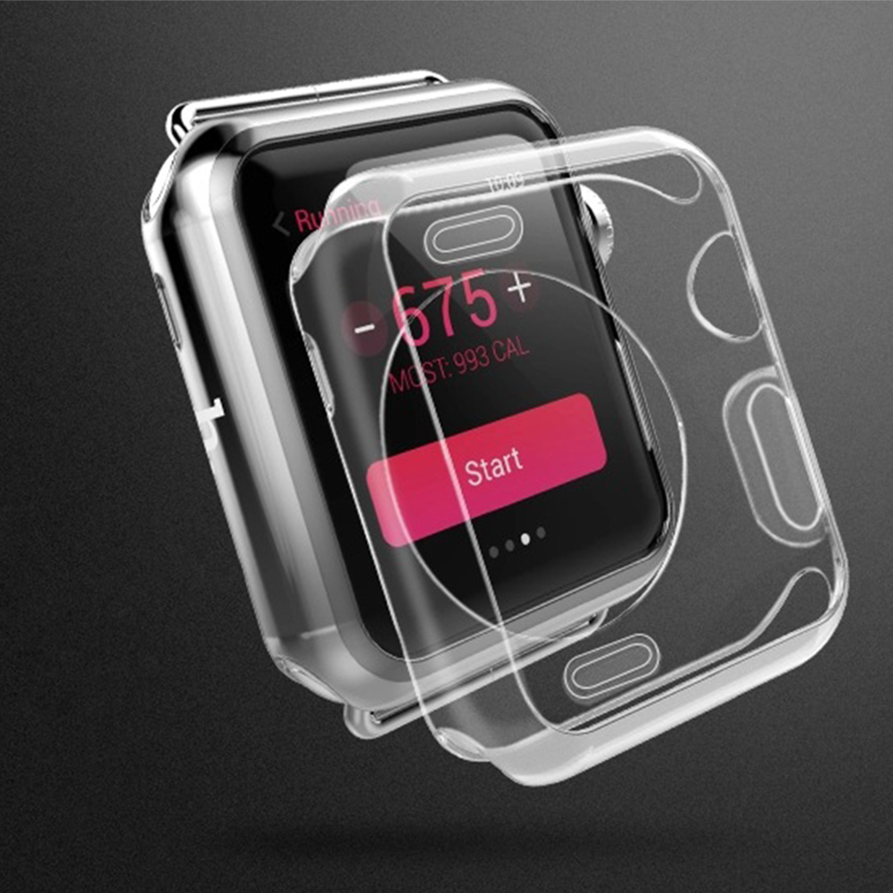 New 1pc Transparent TPU protector case for apple watch band dust proof cover for