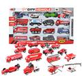 16pcs/set 1:64 scale sliding fire Truck Alloy Model baby Toys for children brinquedos para as crian