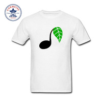 2017 Fashion New Gift Tee Music Note Leaf Cotton T Shirt For Men