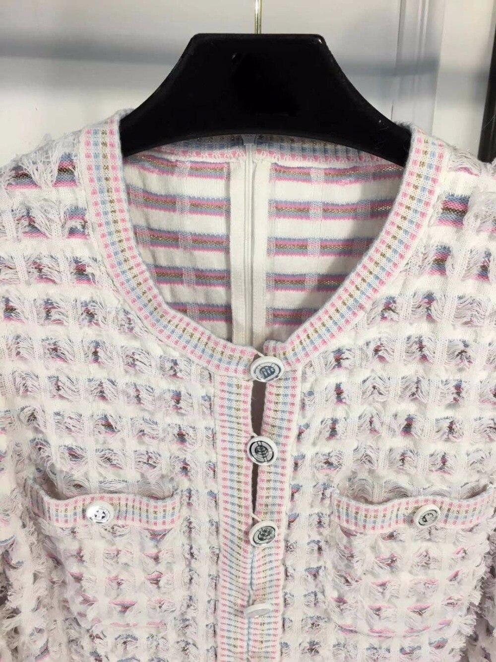 Femmes Nouvel Tweed Couleur Robe Mode Pour Contraste Dames Printemps Robes Le An Élégant Belle Vadim Tempérament 43L5ARjq