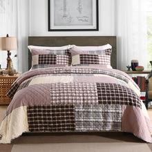 Quality Bedspread Quilt Set 3PCS/4pcs Patchwork Coverlet Quilted bedding Cotton Quilts Duvet Covers Pillowcase King Size 230x250