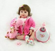 """20 """"brinquedos Artesanais boneca de vinil Silicone bonecas reborn Lifelike sexy vivo Bonecas menina boneca do miúdo da criança Do Bebê boneca reborn menina"""