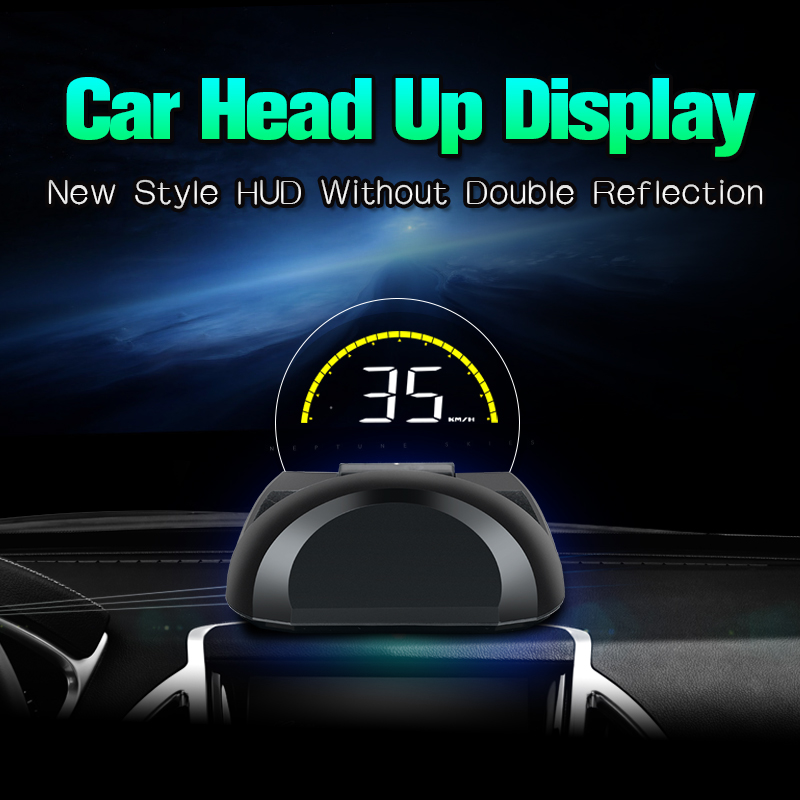 OBDHUD Car Head Up Display With  Round Mirror Digital Projection Car speedometer On Board Computer Fuel Mileage Temp New-in Head-up Display from Automobiles & Motorcycles