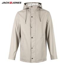 JackJones Для Мужчин's Водонепроницаемый чистый цвет, для отдыха с длинными рукавами жакет на молнии Повседневное пальто Костюмы FashionMale верхняя одежда | 218321511